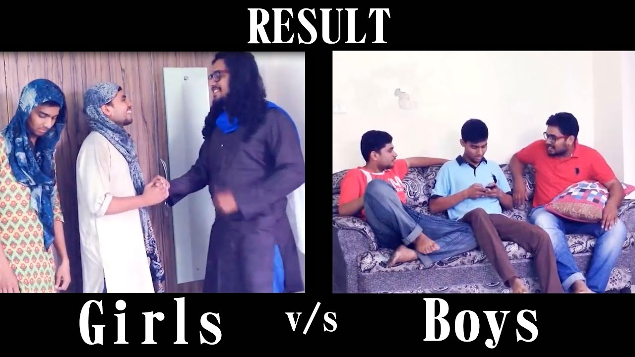 result reaction girls vs boys