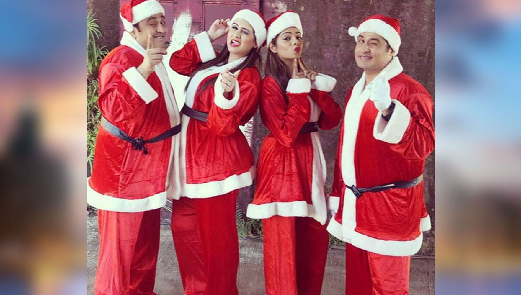 Tv shows celebrities celebrating christmas