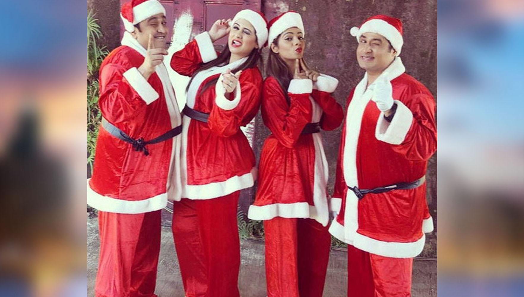 Tv shows celebrities celebrating christmas