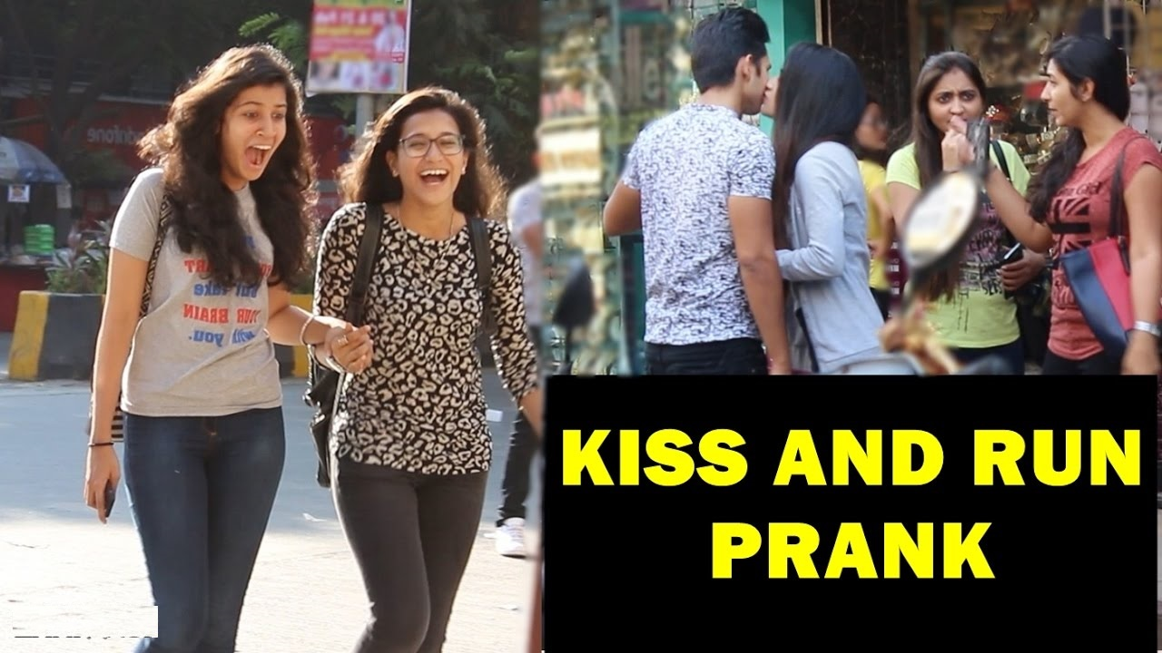 Kiss And Run Prank
