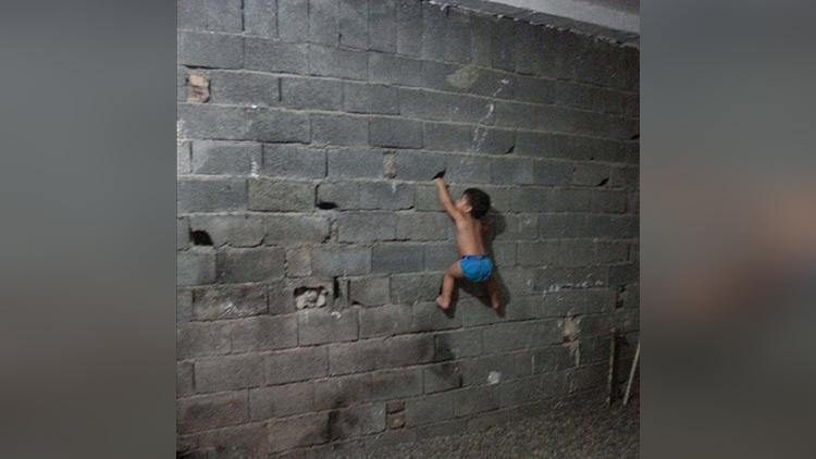 gymnastics boy wonder from Iran who performs balancing splits