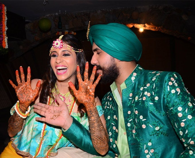 kishwer and suyyash rai mehndi sangeet function