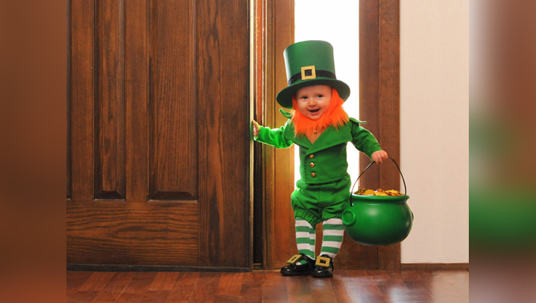 dad turns baby into leprechaun