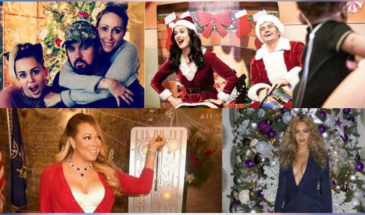 christmas party photos of celebs