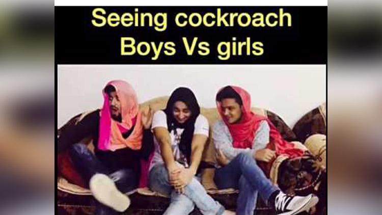 Seeing cockroach Boys vs Girls Harsh beniwal by Hasley india