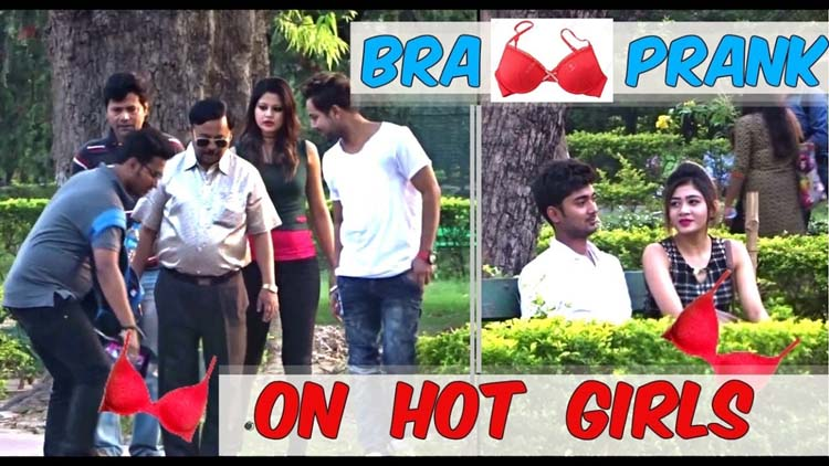 BRA DROPPING PRANK ON HOT GIRLS PRANK 2017