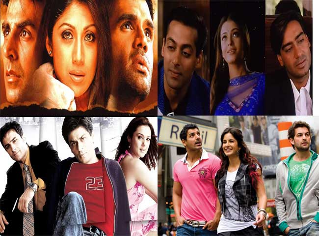 hit bollywood movies based on Love Triangle trend