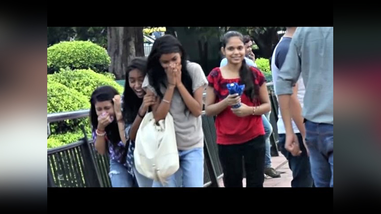 Pressing BOOBS Prank video