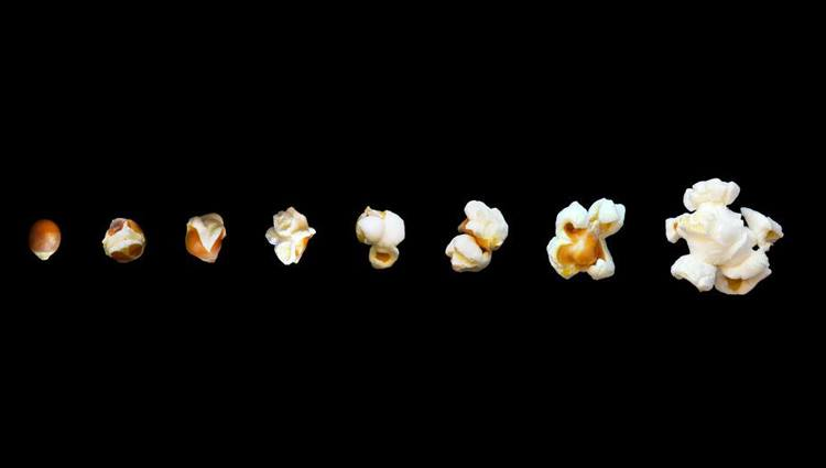 process of making a popcorn