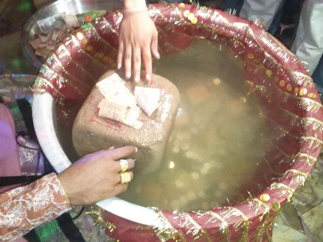 stone floats in the name of Ram Kali