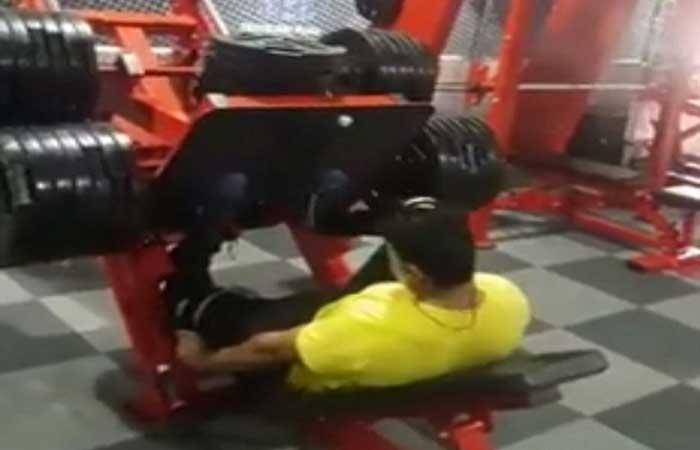 horrific moment a guy breaks leg