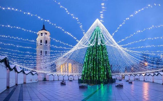 christmas celebration in lithuania vilnius
