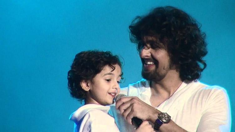 Sonu Nigam Sings with Son Neevan Nigam Live San Jose