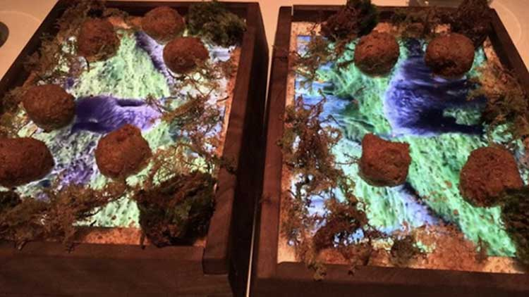 this restaurant is now serving fancy food on ipads