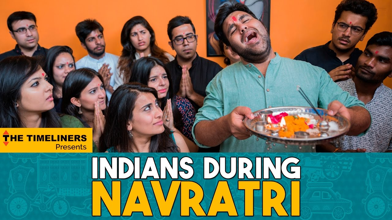 Indians During Navratri