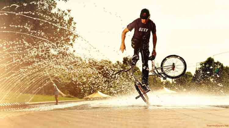 cycling stunt video