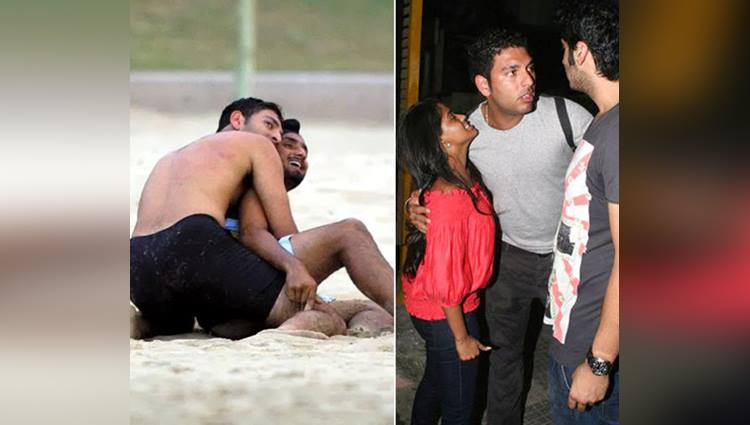 viral unseen pictures of indian cricketer yuvraj singh