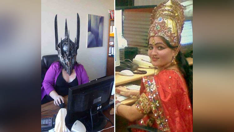 Funny Photos of office People Wearing Really Stupid Outfits