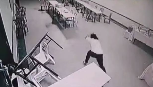Video about a ghost attack on a woman in waiting room
